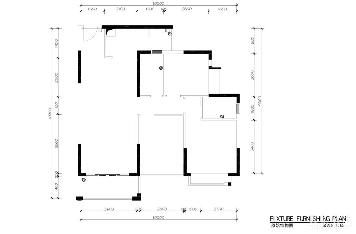 三室两厅施工图 (1)