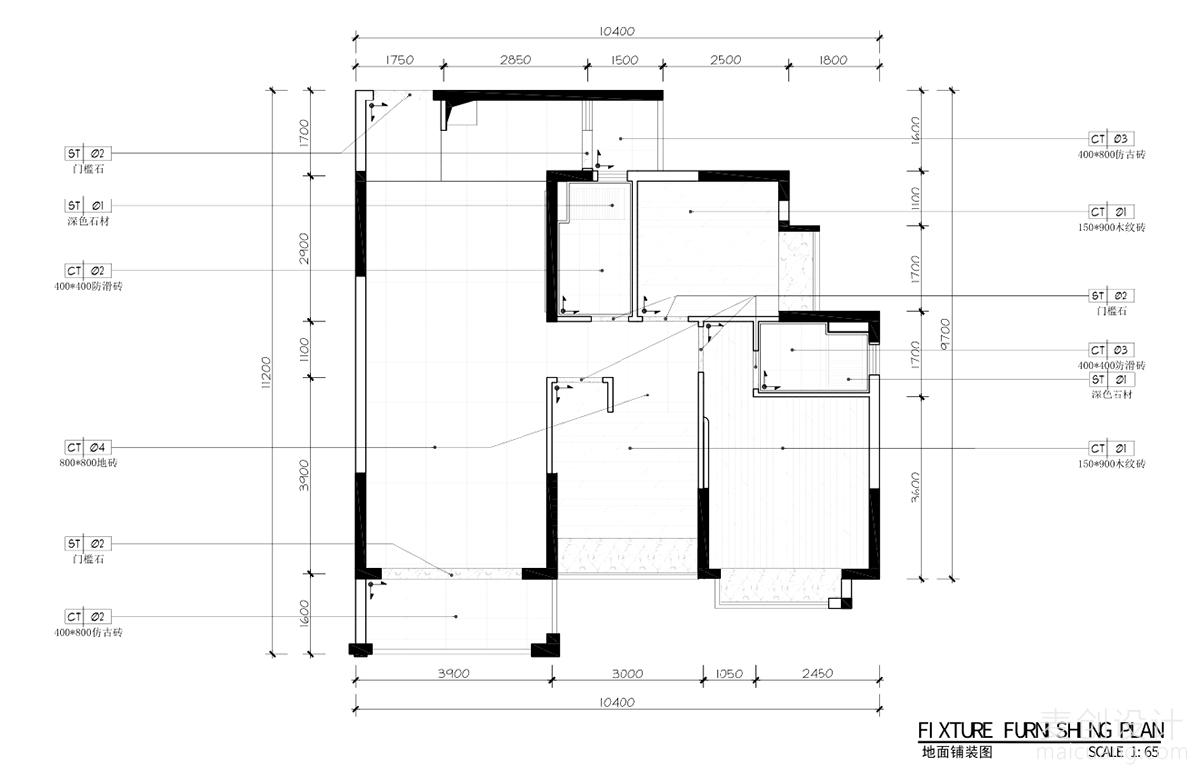 三室两厅施工图 (3)