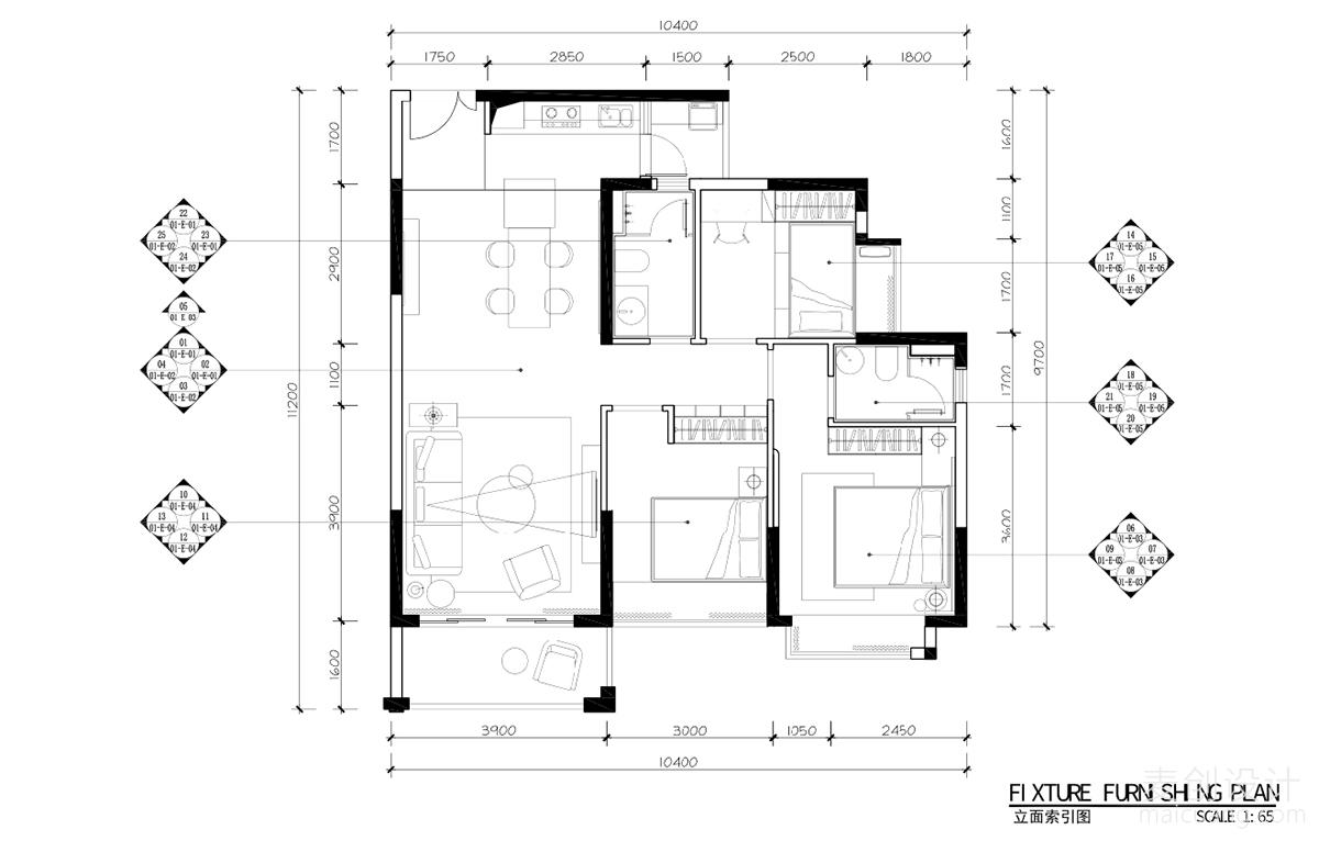 三室两厅施工图 (10)