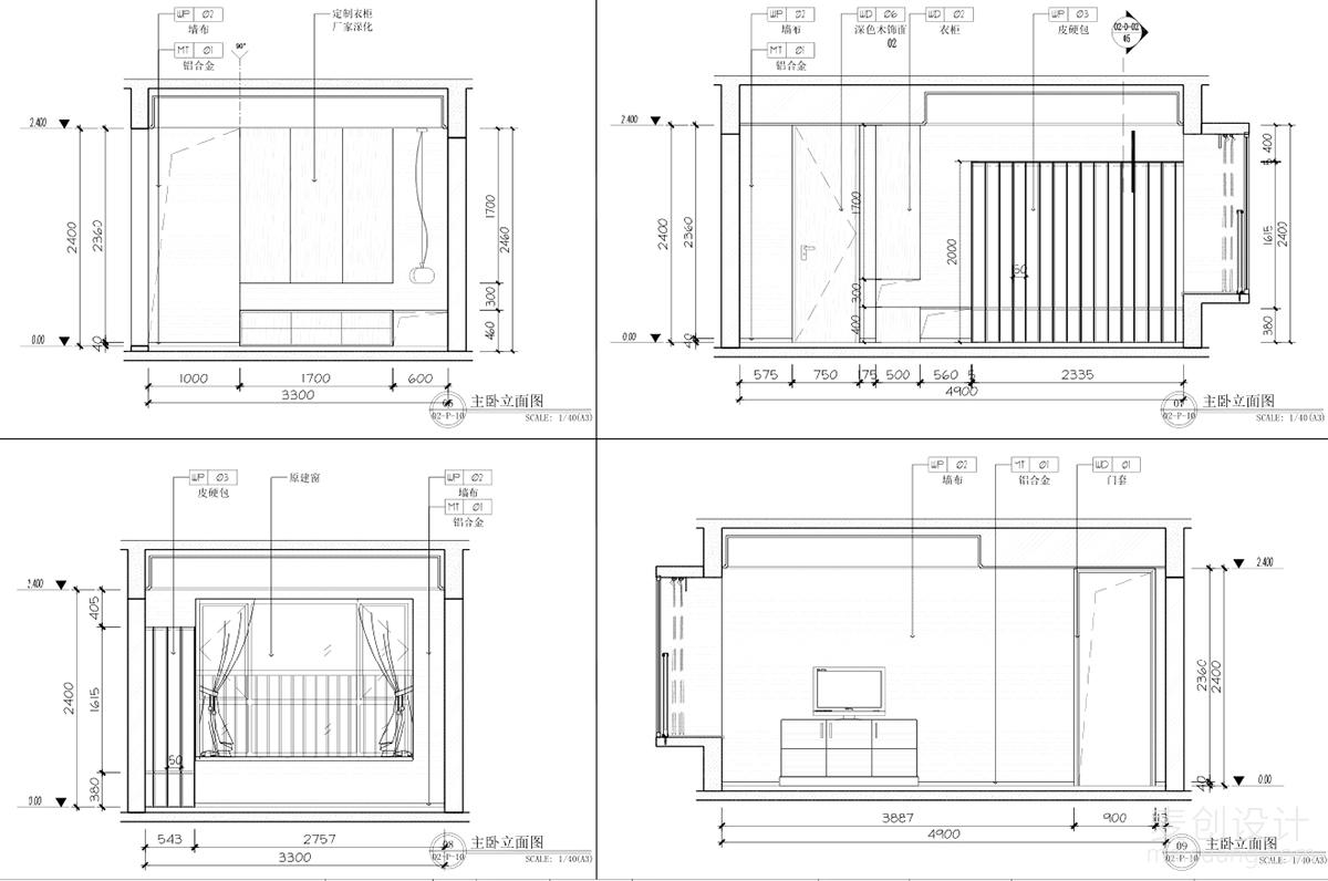 三室两厅施工图 (13)