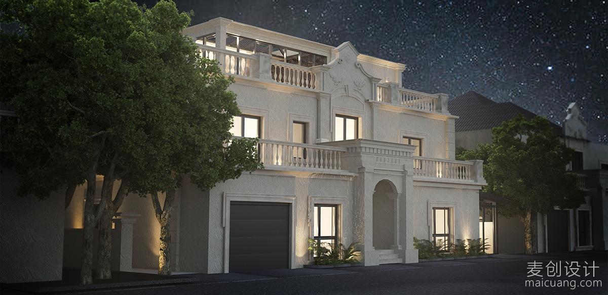 别墅豪宅外立面设计图