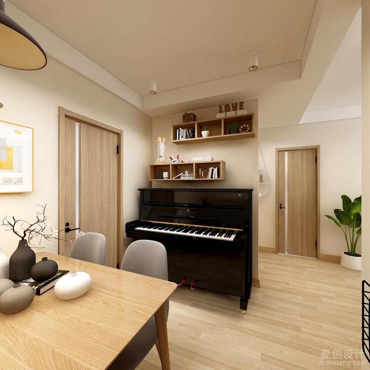 客厅钢琴位置