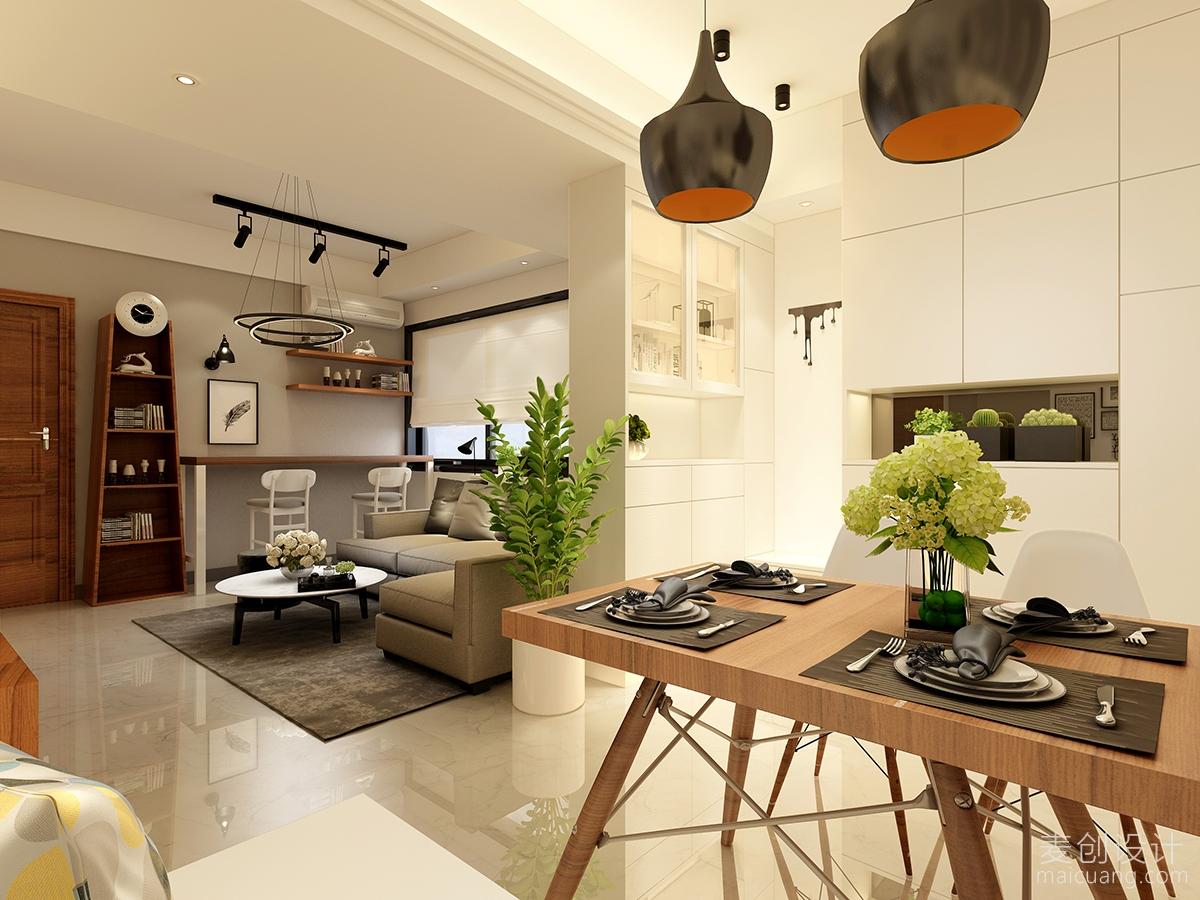 现代简约两房暖性设计方案