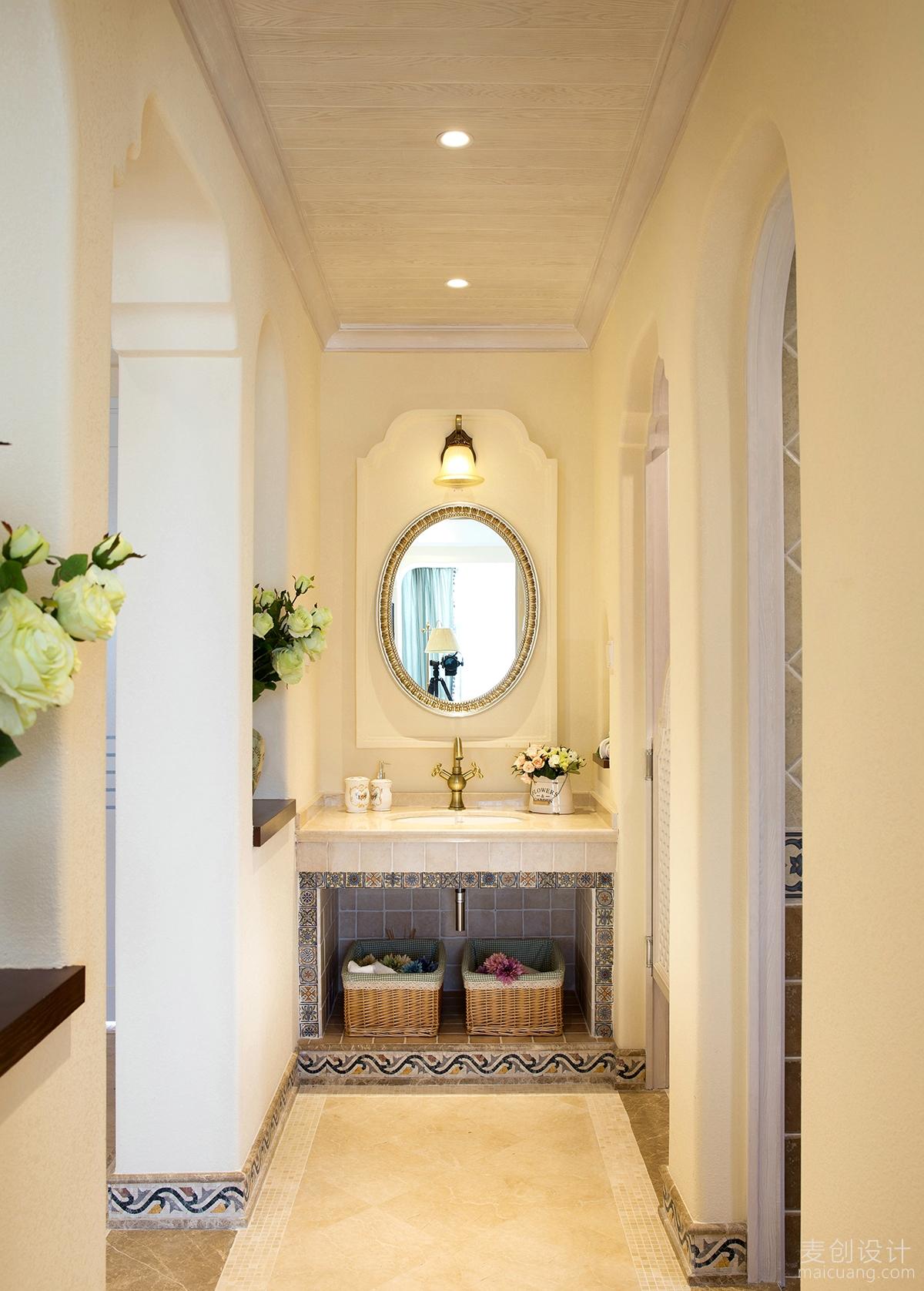 地中海风情三房两厅装修设计方案