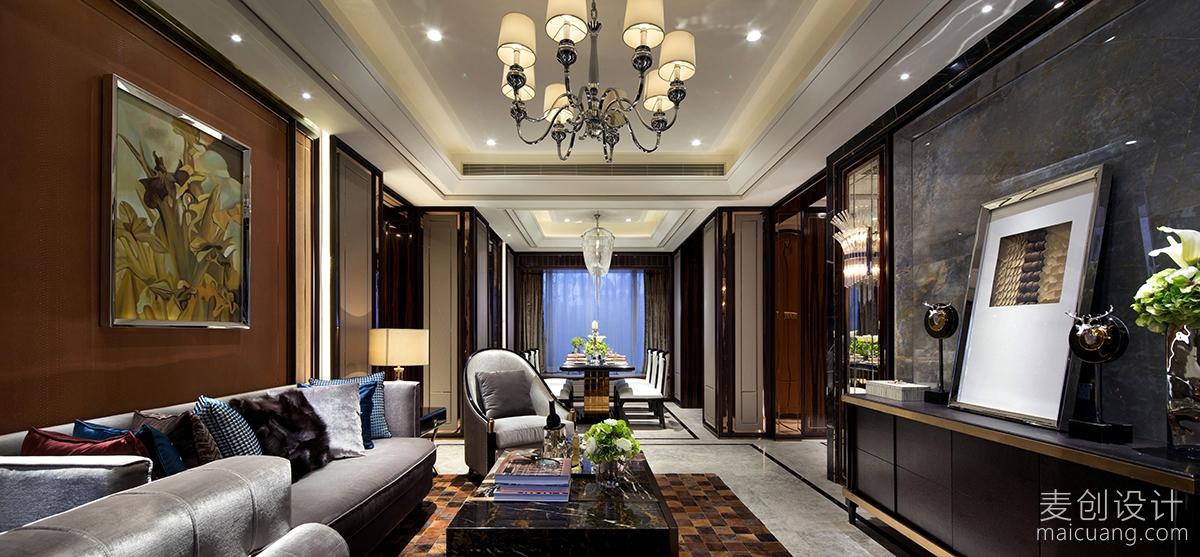 新古典风格高端气质大三房家装设计案例