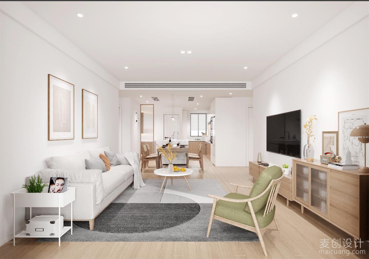 105㎡日系三房,温馨舒适的设计方案