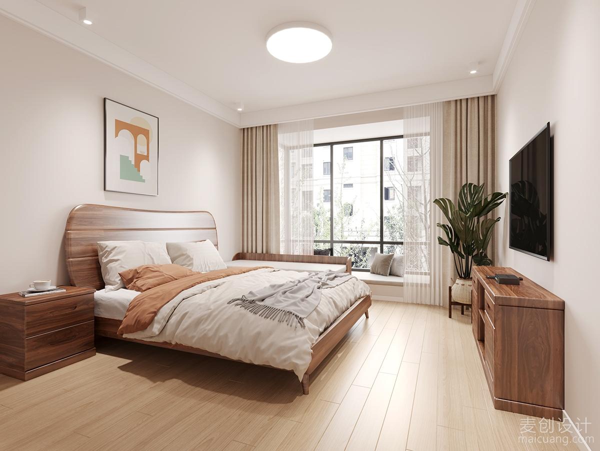 75㎡日式2房设计方案,原木系列与白色调的结合